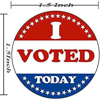 photo regarding I Voted Stickers Printable named : I Voted Stickers 2 x 1 Oval Condition 500 Garments
