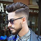 Eseewigs Men Hairpiece Real French Lace Human Hair Replacement for Men Wig Thin Skin Men's Toupee IB Natural Black Color