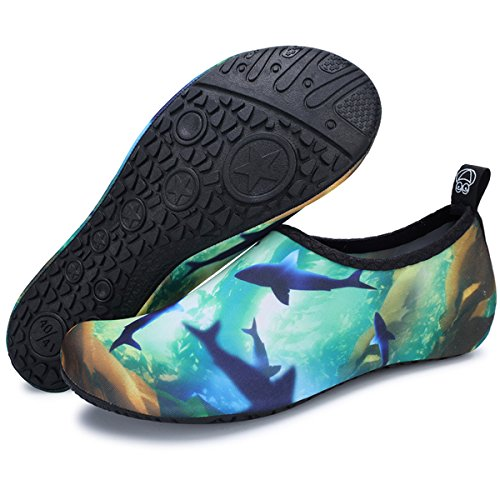 Men's Swim Water Women's Shoes Pool Exercise Skin Beach Socks Barefoot Quick Surf Dry JIASUQI Blue for Graffiti Yoga Aqua 5wAxq75