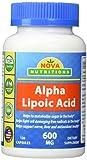 Nova Nutritions Alpha Lipoic Acid 600 mg 120 Capsules Discount