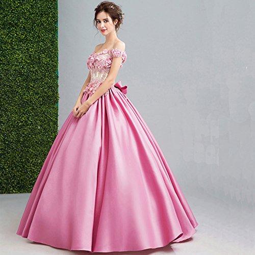 Mano Rillsiy Brindisi Da Nuove A Pink Signore XL 2018 Sposa Sposa Rosa Temperamento Abito RFqRYrw