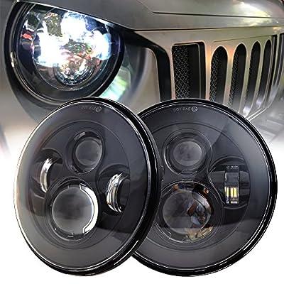 Classic 7'' Daymaker LED Headlights for Jeep Wrangler 97-2017 JK TJ LJ (Black)