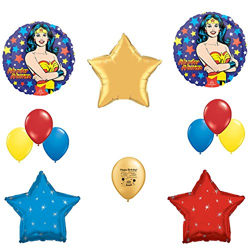 Wonder Woman Birthday Party Balloon Decoration Kit (Wonder Woman Party Decorations)