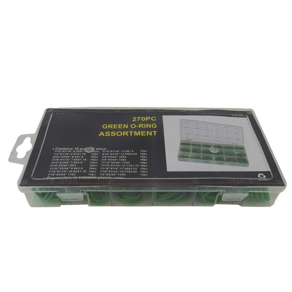 Hydraulische Nitril Sortiment Kit Sanit/ärdichtung Flache Ringe f/ür Klimaanlage Lecimo 270 st/ücke Gummi O-ring Dichtungen Set