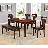 Best Master Furniture MH03 Carmine Dining 6 Pcs Set