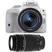 Canon EOS Rebel SL1 Digital SLR Camera & EF-S 18-55mm IS STM Lens (White) with Canon EF 75-300mm f/4-5.6 III Zoom Lens Benefits Review Image