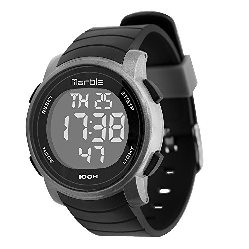 Women's Swimming Waterproof Outdoor Sports LED Backlight Digital Stopwatch Wrist Stop Chronograph Watches