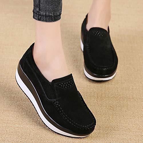 Platform Donne Eu Per Sole Casual Slip Rocker Le Blu 42 On colore Dimensione Shoes Zhrui Sneakers Heel Nero Increase E1qYx