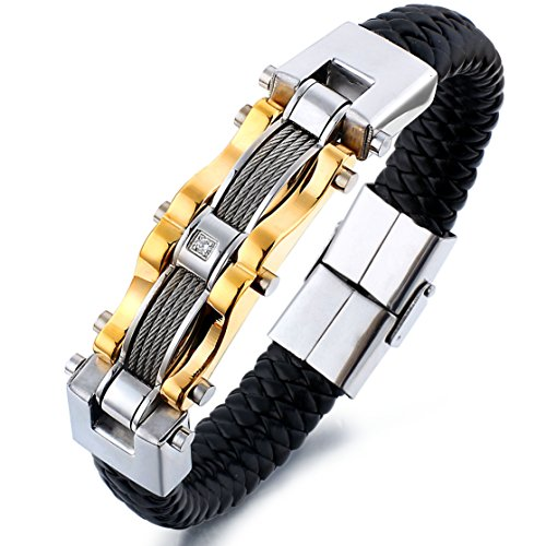 Jstyle Stainless Leather Bracelet 7 5 8 5