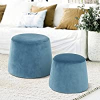 Ottoman without Storage,Round Fabric Accent Chair,Children's Chair,More Colors Can Choose