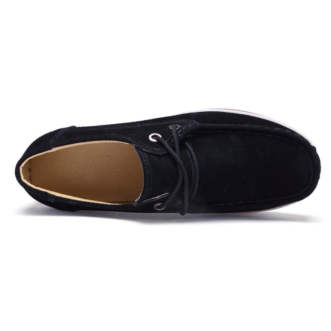Z.SUO Mocassini Mocassini Mocassini Donna in Pelle Scamosciata Moda comode Loafers Scarpe da Guida Nero.1 2f6337