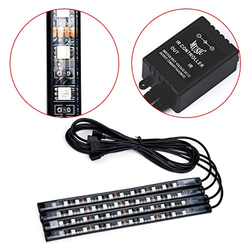 48 led car led light strip kit 4 neon light bars car import it all. Black Bedroom Furniture Sets. Home Design Ideas