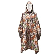 Waterproof Raincoat Poncho Hunting Riding Camping Hiking Camouflage