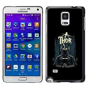 """For Samsung Galaxy Note 4 , S-type Dios del trueno"""" - Arte & diseño plástico duro Fundas Cover Cubre Hard Case Cover"""