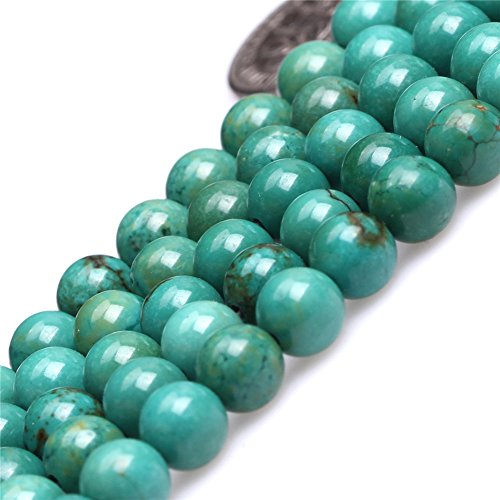 Round Old Turquoise Gemstone Loose Beads In Bulk Handmade DIY One Strand 15