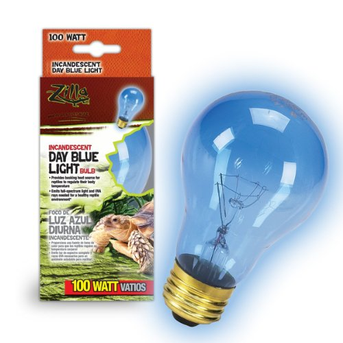 Zilla 09918 Day Blue Light Incandescent Bulb, 100-Watt
