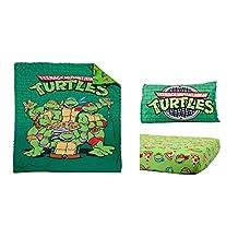 Teeange Mutant Ninja Turtles 3 Piece Toddler Bedding Set