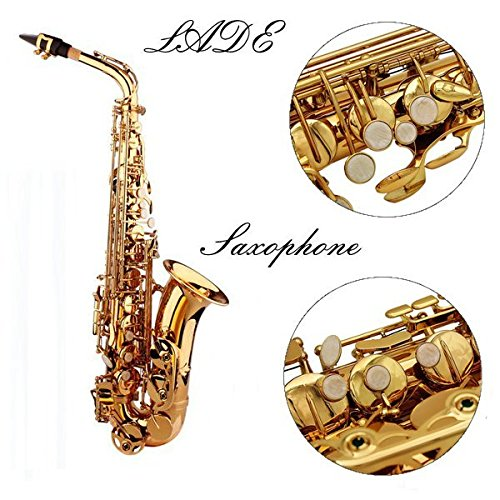 LADE Alto Eb Golden Saxophone Sax Paint Gold With Case & Accessories by SOUND HOUSE 28 (Image #1)