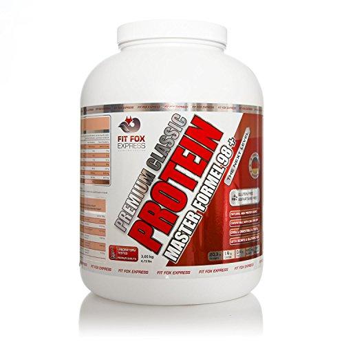 Fit Fox Express 98+ Premium Protein, Eiweißshake, Vanilla Cream, 3050 g Dose