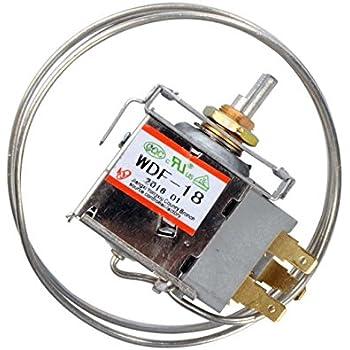Saim AC 250V 6A 3 Pin Terminals Freezer Refrigerator Thermostat