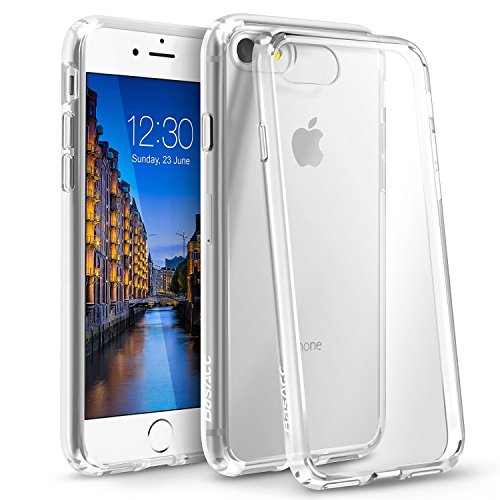 Eforcity Clear Crystal Phone Case - iPhone 8 / 7 Case, BasAcc [Crystal Clear] Ultra Slim Hybrid Case With [Anti-Shock Protection]  TPU Bumper, [Non Slip] Hard Back Panel Case Cover For Apple iPhone 8 / 7 2016 (4.7