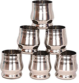 Vasos de acero inoxidable WhopperIndia de 250 ml (paquete de ...