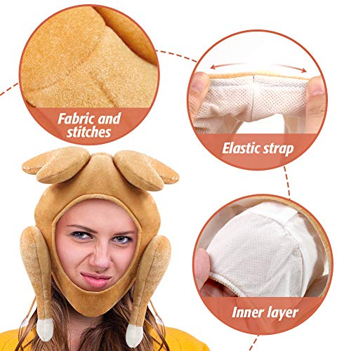 Amor Thanksgiving Turkey Hat,Thanksgiving Funny Party Hat for Thanksgiving and Halloween Costume Dress Up Party Brown