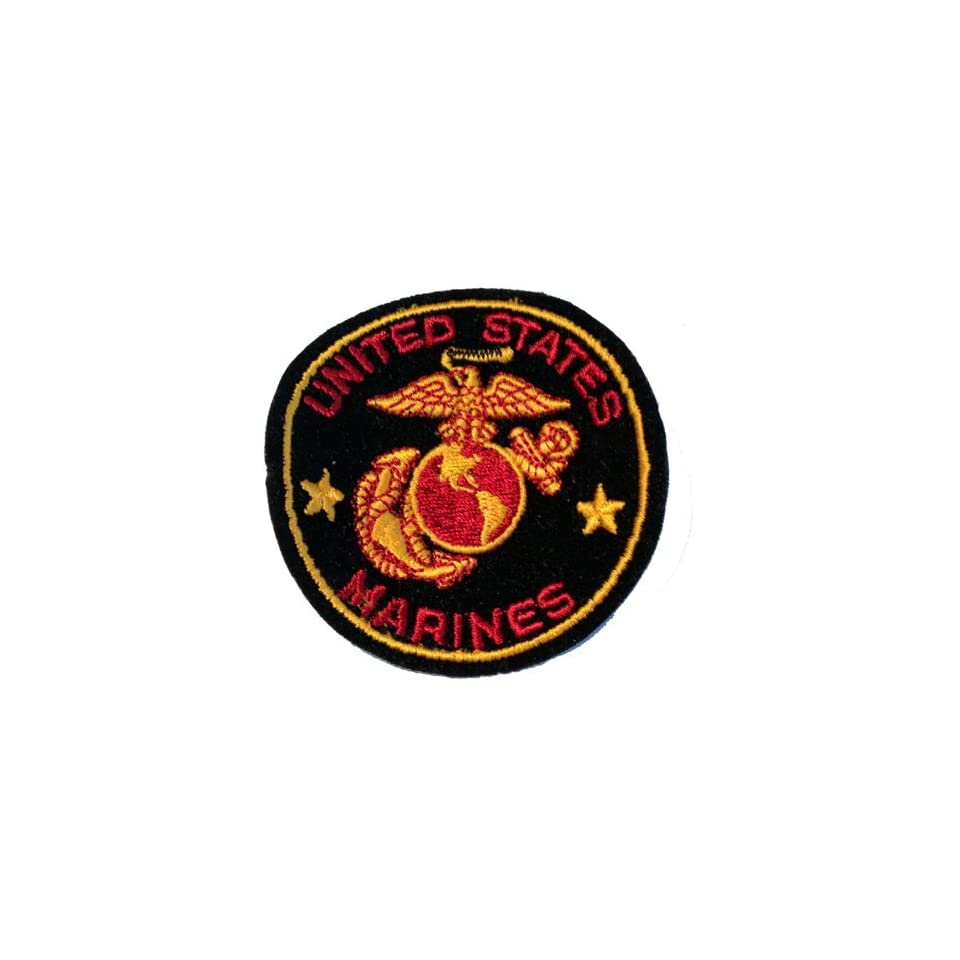 USMC Embroidery Iron On Patch   Once A Marine, Always A Marine, Eagle Anchor Applique