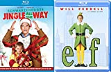 A Christmas Jingle Elf Double Feature Movie Holiday Will Ferrell Arnold Schwarzenegger Jingle All the Way 2-Pack