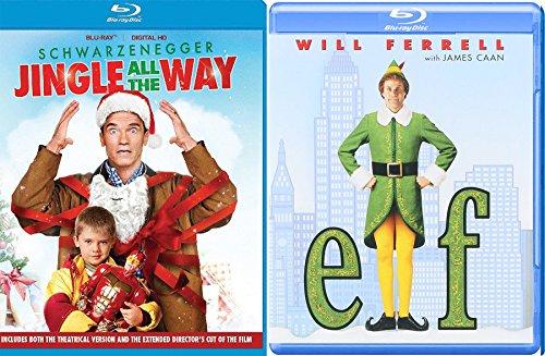 A Christmas Jingle Elf Double Feature Movie Holiday Will Ferrell Arnold Schwarzenegger Jingle All the Way - Mall Santa High Street