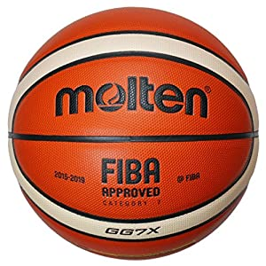 molten Basketball, Orange/Ivory, 7, BGG7X-DBB