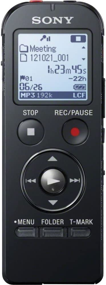 Sony ICD-UX533BLK Digital Voice Recorder - Black