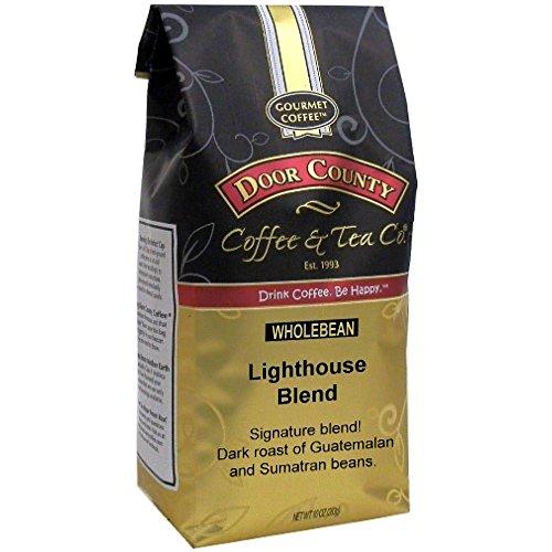- Door County Coffee, Lighthouse Blend, Wholebean, 10oz Bag