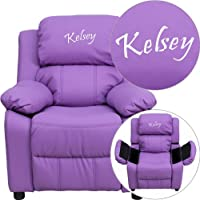 Personalized Deluxe Kids Recliner Upholstery: Lavender Vinyl