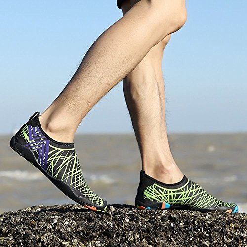 Beach Men Sports black C3 Skin PENGCHENG Shoes Socks Dry Barefoot Water amp;green Women Swim Aqua Quick 4wtnXq5