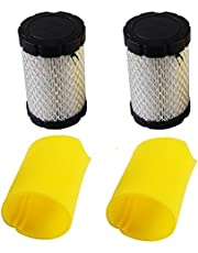KlirAir Air Filters Replace Briggs Stratton 796031 (591334 or 594201) Plus 797704 Foam Pre-Cleaner (Pack of 2)