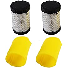 Lawn Mower Air Filter and Pre-cleaner Set Replacing Briggs and Stratton 796031/797704 (Pack of 2) by KlirAir