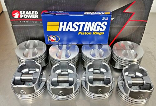 Sealed Power Moly Piston Rings - Sealed Power Speed Pro Hyper Pistons and MOLY Rings Combo compatible with Chevrolet SBC SB 350 5.7L +060