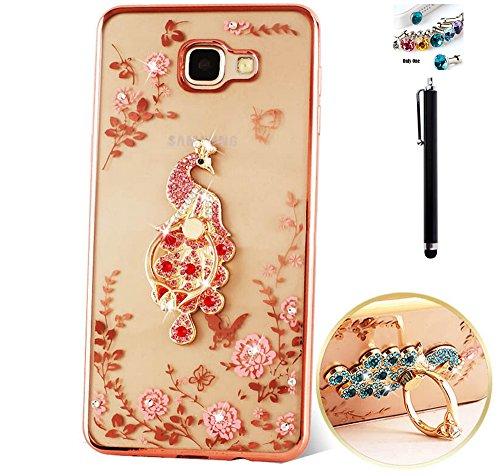 TPU Silikon Mädchen Plating Blumen Muster Spiegel Transparent-Samsung Galaxy S6 Edge Plus Hülle