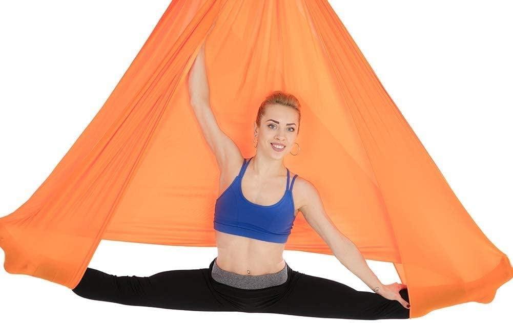 Premium Aerial Silk Fabric Yoga Schaukel f/ür Antigravitations Yoga Inversion Inklusive Daisy Chain XiuLi Aerial Yoga H/ängematte 4 Carabiner und Pose Guide 2.8M