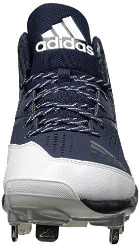Scarpa Da Baseball Adidas Original Mens Freak X Carbon Mid College Blu / Bianco / Argento Metallizzato