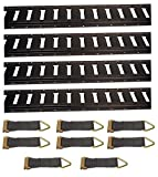 Pit Posse 5 Foot E-Track Black Kit With Straps Tiedown Rail System Rope Tie Off Enclosed Cargo Trailer Truck Van
