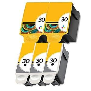 5 Kodak 30xl Ink Printer Cartridges Set for ESP 310 C315 2150 2170 Hero 3.1 5.1