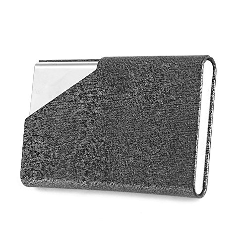 Business Name Card Holder Luxury PU Leather & Stainless Steel Multi Card Case,Business Name Card Holder Wallet Credit Card ID Case/Holder for Men & Women (Gray) Photo #7