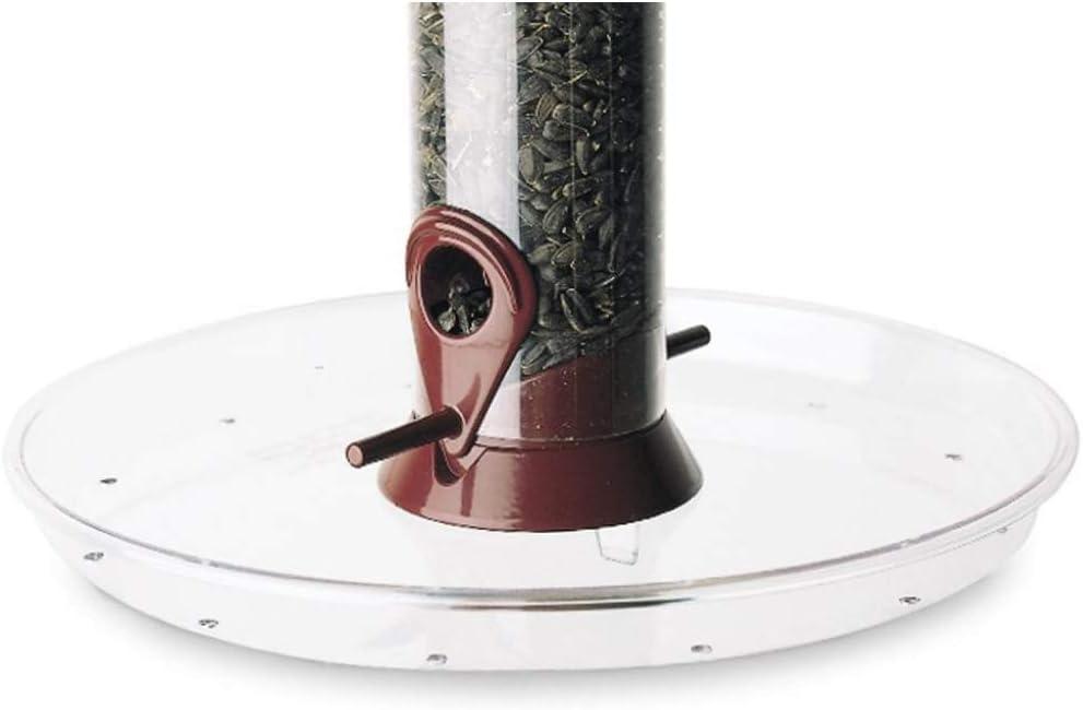 Droll Yankees OMT 780231545807 Bird Seed Feeder Tray, 10.5-Inch, clear