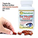 NutraGreen Lutein 20mg with Zeaxanthin Astaxanthin Bilberry Eye Supplements Vitamins For Vision amp Macular Degeneration Health 1 Capsule Daily 2 Months Supply Discount