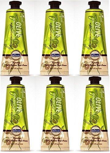 Difeel Organic Olive Hand Cream 1.5 oz / 42 ml (6 Pack)