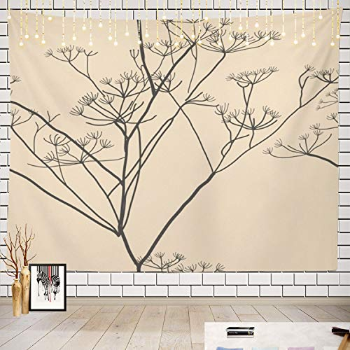 Batmerry Plant Tapestry, Seamless Retro Picnic Mat Beach Towel Wall Art Decoration for Bedroom Living Room Dorm ()