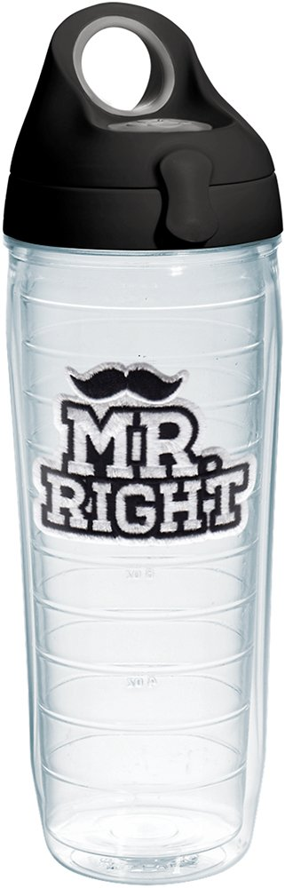 Right Insulated Tumbler with Emblem and Black Lid 16 oz Clear Tervis 1253018 Mr