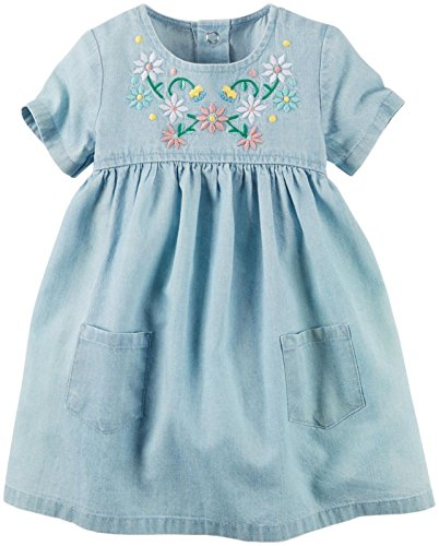 Carter's Baby Girl Collection Chambray Dress, Denim, 9 Months